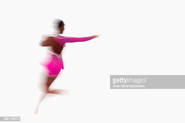 Mae Berenice Meite of France performs in the Ladies Short Program during day one of Trophee Eric Bompard ISU Grand Prix of Figure Skating 2013/2014...