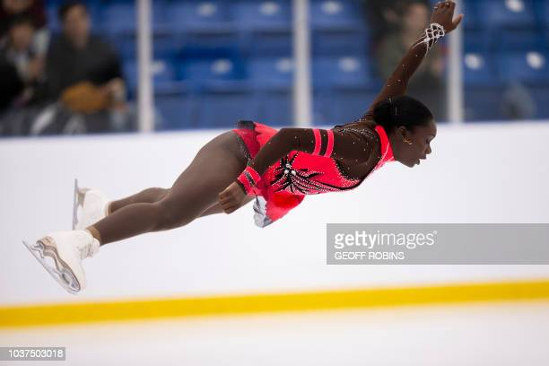 Mae Berenice Meite of France skates her free skate in the ladies competition at the 2018 Skate Canada Autumn Classic International event in Oakville...