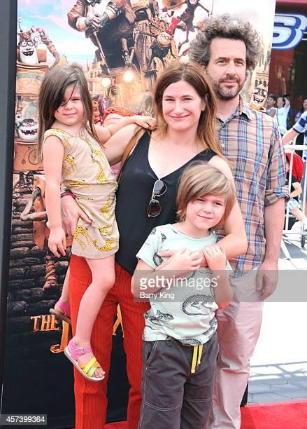Mae Sandler actress Kathryn Hahn husband Leonard Sandler and Ethan Sandler attend the premiere of 'The Boxtrolls' at Universal CityWalk on September...