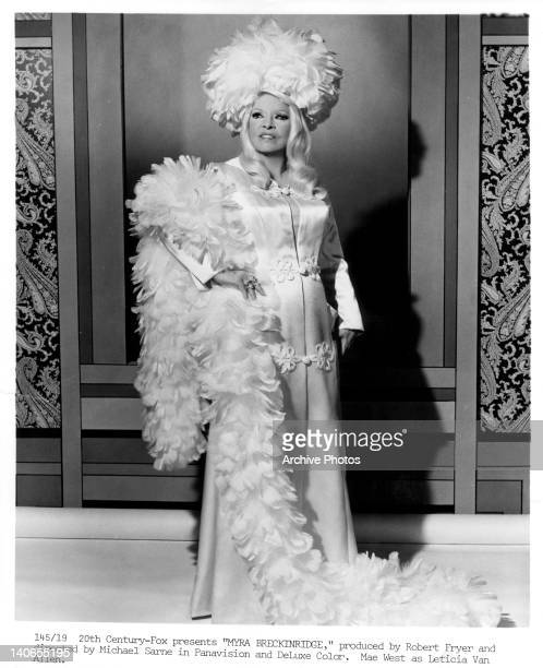 Mae West as Leticia Van Allen in a scene from the film 'Myra Breckinridge', 1970.