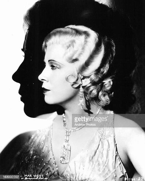 Mae West in profile in publicity portrait for the film 'I'm No Angel' 1933