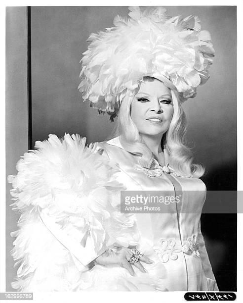 Mae West in publicity portrait for the film 'Myra Breckinridge' 1970