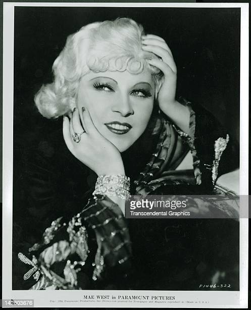 Mae West movie star for Paramount Pictures poses for a publicity still in Hollywood California in 1934