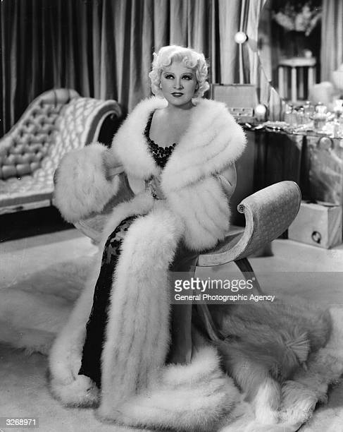 Mae West stars in the Paramount film 'Go West Young Man', written by West as a vehicle for herself. The film was directed by Henry Hathaway.