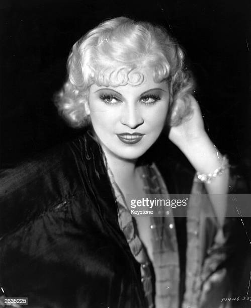 Mae West the American leading lady and archetypal sex symbol who wrote most of her own stage plays and film scripts.
