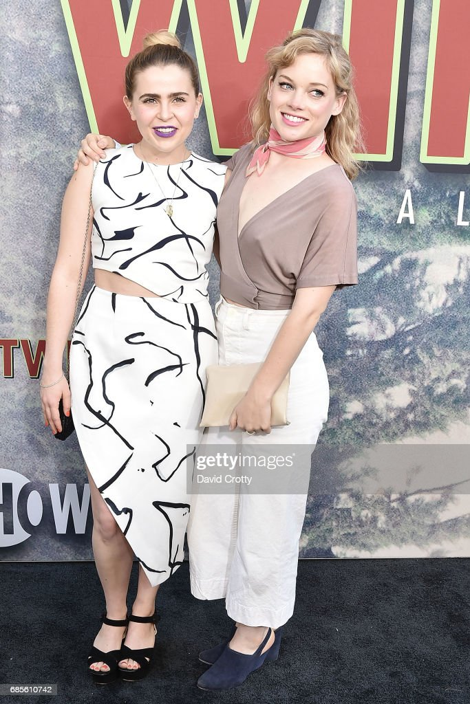 Mae Whitman and Jane Levy attend the World Premiere Of Showtime's 'Twin Peaks' at The Theatre at Ace Hotel on May 19, 2017 in Los Angeles, California.