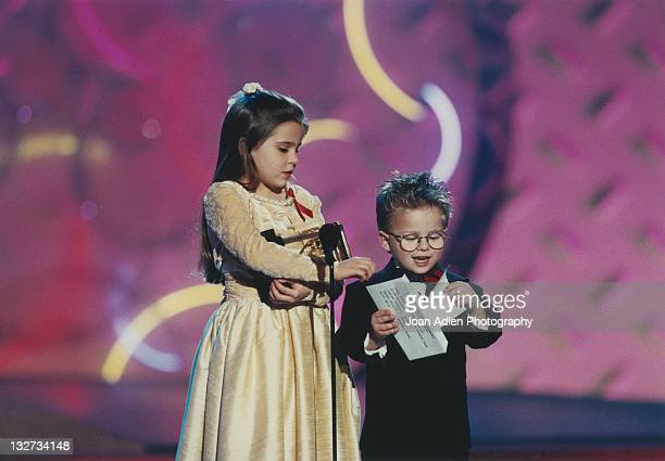 Mae Whitman and Jonathan Lipnicki at the American Comedy Awards on February 9, 1997 at the Shrine Auditorium in Los Angeles, California.