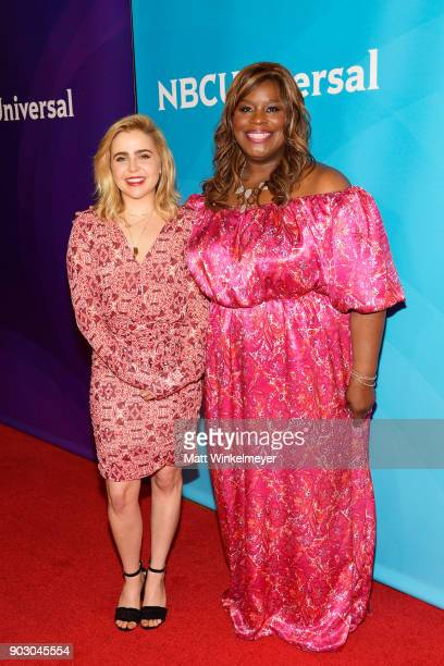 Mae Whitman and Retta attend the 2018 NBCUniversal Winter Press Tour at The Langham Huntington Pasadena on January 9 2018 in Pasadena California