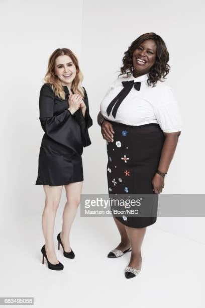Mae Whitman and Retta of Good Girls pose for a photo during NBCUniversal Upfront Events Season 2017 Portraits Session at Ritz Carlton Hotel on May 15...