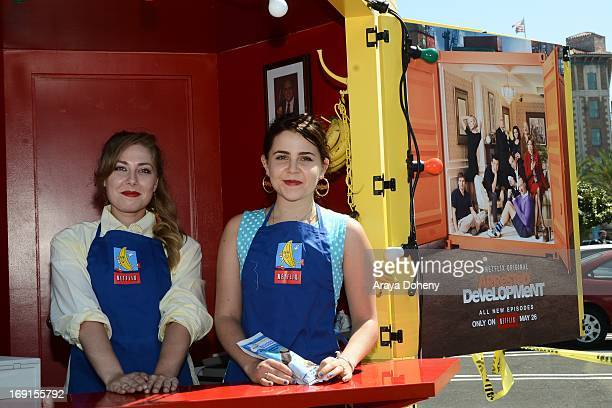 Mae Whitman appears at the Arrested Development Bluth's Original Frozen Banana Stand First Los Angeles Location Opening on May 20 2013 in Los Angeles...
