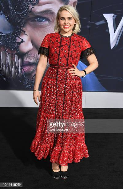 Mae Whitman attends the premiere of Columbia Pictures' Venom at Regency Village Theatre on October 1 2018 in Westwood California