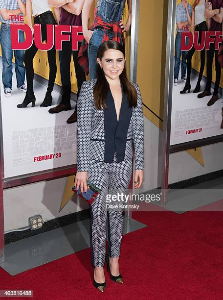 Mae Whitman attends the The Duff New York Premiere at AMC Loews Lincoln Square on February 18 2015 in New York City