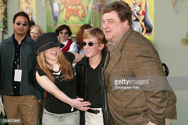 Mae Whitman Haley Joel Osment and John Goodman during The Jungle Book 2 Premiere at The El Capitan Theater in Hollywood CA United States