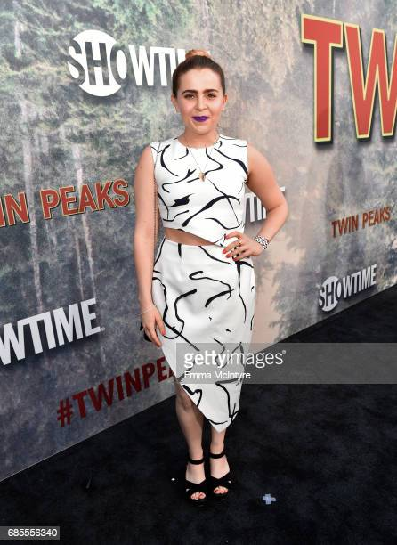 Mae Whitman sattends the premiere of Showtime's Twin Peaks at The Theatre at Ace Hotel on May 19 2017 in Los Angeles California