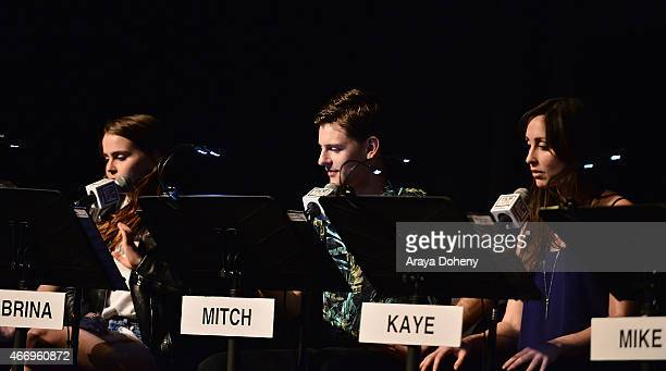 """Mae Whitman, Travis Tope and Catherine Reitman attend the Film Independent at LACMA presents Live Read of """"Dazed And Confused"""" at Bing Theatre At..."""