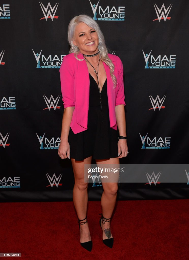 Mae Young Classic contestant Candice LaRae appears on the red carpet of the WWE Mae Young Classic on September 12, 2017 in Las Vegas, Nevada.