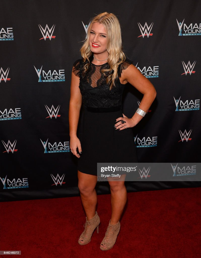 Mae Young Classic contestant Toni Storm appears on the red carpet of the WWE Mae Young Classic on September 12, 2017 in Las Vegas, Nevada.