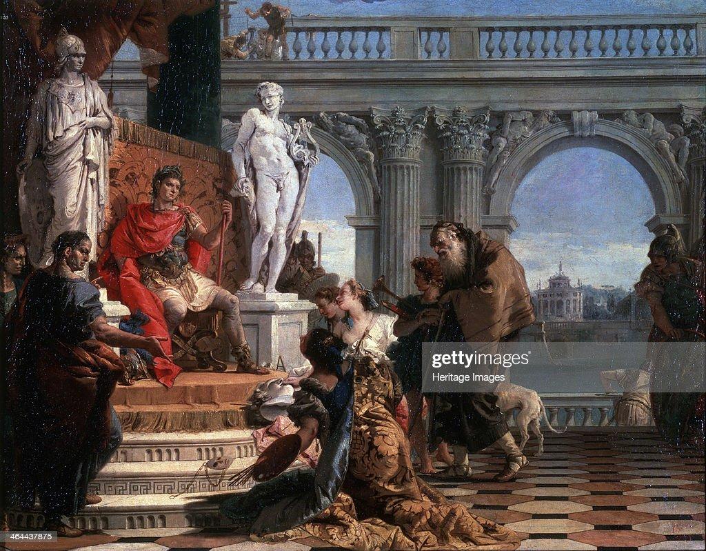 'Maecenas presenting the Arts to Augustus', 1743. Artist: Giovanni Battista Tiepolo : News Photo