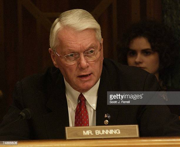 FHLBSSen Jim Bunning RKy during the Senate Banking Housing and Urban Affairs markup of legislation to create an independent regulator to oversee...