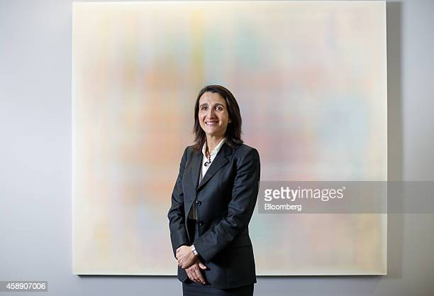 Maelys Castella chief financial officer of Akzo Nobel NV poses for a photograph at the company's headquarters in Amsterdam Netherlands on Thursday...