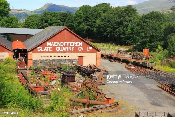 Maenofferen slate quarry company Minffordd Yard Gwynedd north west Wales UK