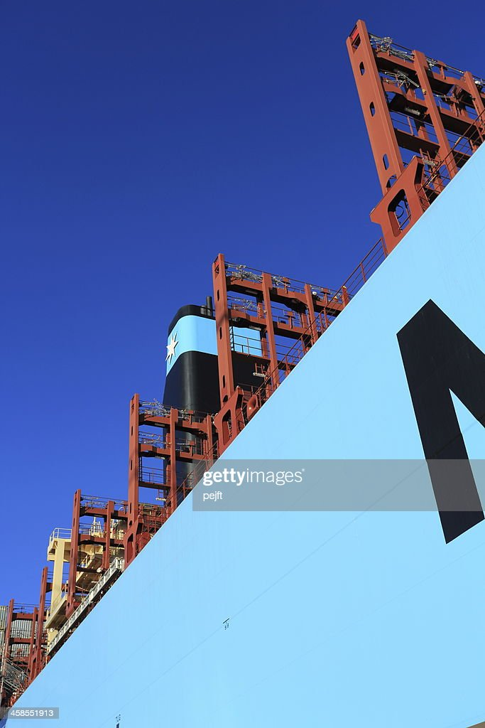 Maersk Line Triple-E Container ship Majestic Mærsk : Stock Photo