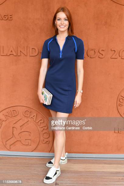 Maeva Coucke attends the 2019 French Tennis Open Day Ten at Roland Garros on June 04 2019 in Paris France