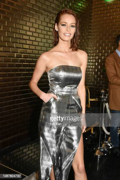 Maeva Coucke attends the Jean-Paul Gaultier Haute Couture Spring Summer 2019 show as part of Paris Fashion Week on January 23, 2019 in Paris, France.