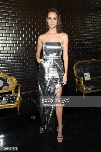 Maeva Coucke attends the JeanPaul Gaultier Haute Couture Spring Summer 2019 show as part of Paris Fashion Week on January 23 2019 in Paris France