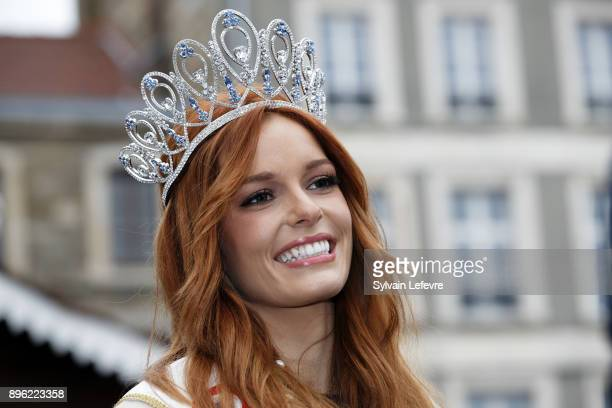 Maeva Coucke Miss France 2018 attends official ceremony for her visit in her hometown on December 20 2017 in BoulognesurMer France
