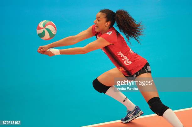 Maeva Orle of ASPTT Mulhouse during the Ligue A Final between ASPTT Mulhouse and Le Cannet at Salle Pierre Coubertin on May 6 2017 in Paris France