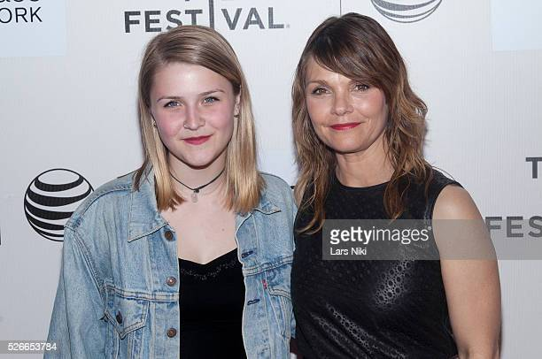 Maeve Elsbeth Erbe Kinney and Kathryn Erbe attend the 'Tumbledown' world premiere during the 2015 Tribeca Film Festival at the BMCC Tribeca PAC in...