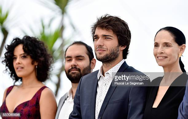Maeve Jinkings Fabio Leal Humberto Carrao and Sonia Braga attend the 'Aquarius' photocall during the 69th Annual Cannes Film Festival at the Palais...