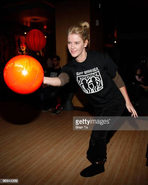 Maeve Quinlan attends Best Buddies International's Bowling for Buddies benefit at Lucky Strike Lanes at LA Live on February 21 2010 in Los Angeles...