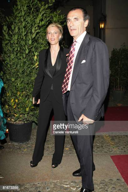Mafalda D'Assia and Ferdinando Brachetti Peretti attend the Uomo Vogue 40th anniversary celebration party as part of Milan Fashion Week Menswear...