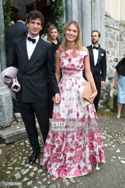 Mafalda Millies and her boyfriend Louis Khahane during the wedding of Prince Konstantin of Bavaria and Princess Deniz of Bavaria born Kaya at the...