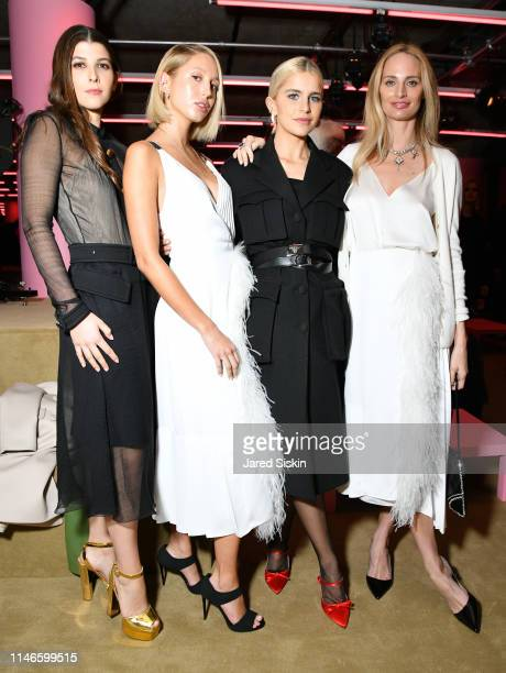 Mafalda Saxe Cobourg Princess Maria Olympia of Greece Caro Daur and Lauren Santo Domingo attend the Prada Resort 2020 fashion show at Prada...