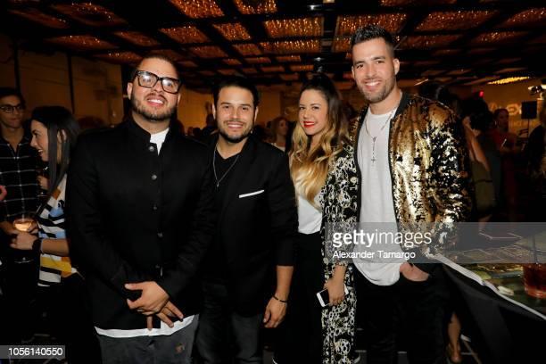 Maffio Roberto Molina Maria Alejandra Gutierrez and Armando Montiel attend Billboard 2018 Latin Power Players at W South Beach on November 1 2018 in...