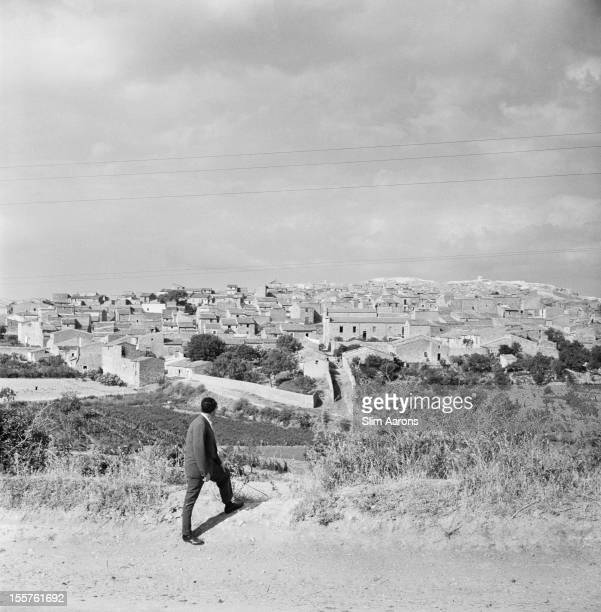 Mafia boss Charles 'Lucky' Luciano surveying the land while in exile in Sicily Italy 31 December 1948