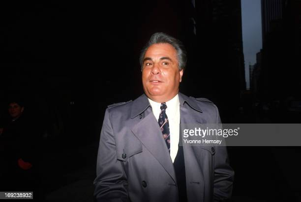 Mafia Boss John Gotti aka 'The Dapper Don' is photographed on a street corner January 20 1987 in New York City