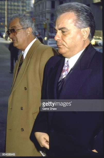 Mafia boss John Gotti w brother Peter