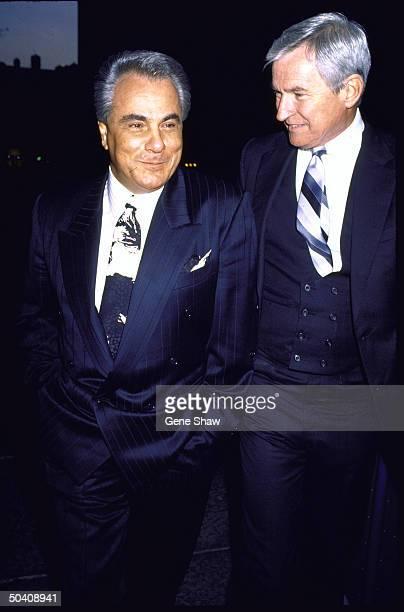 Mafia boss John Gotti w unident man