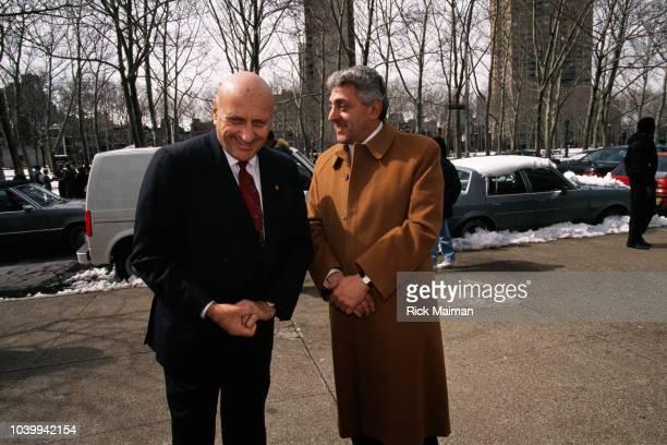 Mafia boss John Gotti's Chief Defense Lawyer Albert Krieger and Jackie D'Amico of the Gambino crime family John Joseph Johnny Boy Gotti Jr was...