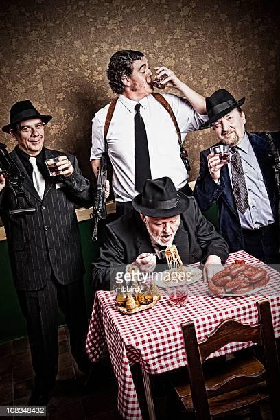 Mafia Chef mit Söhne