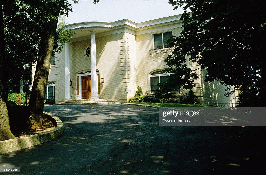 Mafia don Paul Castellano's home is seen July 7, 1986 in Staten Island, New York. Castellano is the boss of the Gambino Crime Family.