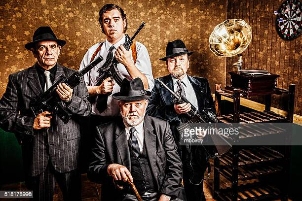 mafia family, boss with sons - gangster stock pictures, royalty-free photos & images