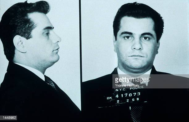 Mafia member John Gotti aka The Dapper Don poses for mugshot Febuary 2 1968 in New York City Doctors at the Federal Prison Hospital in Springfield MO...