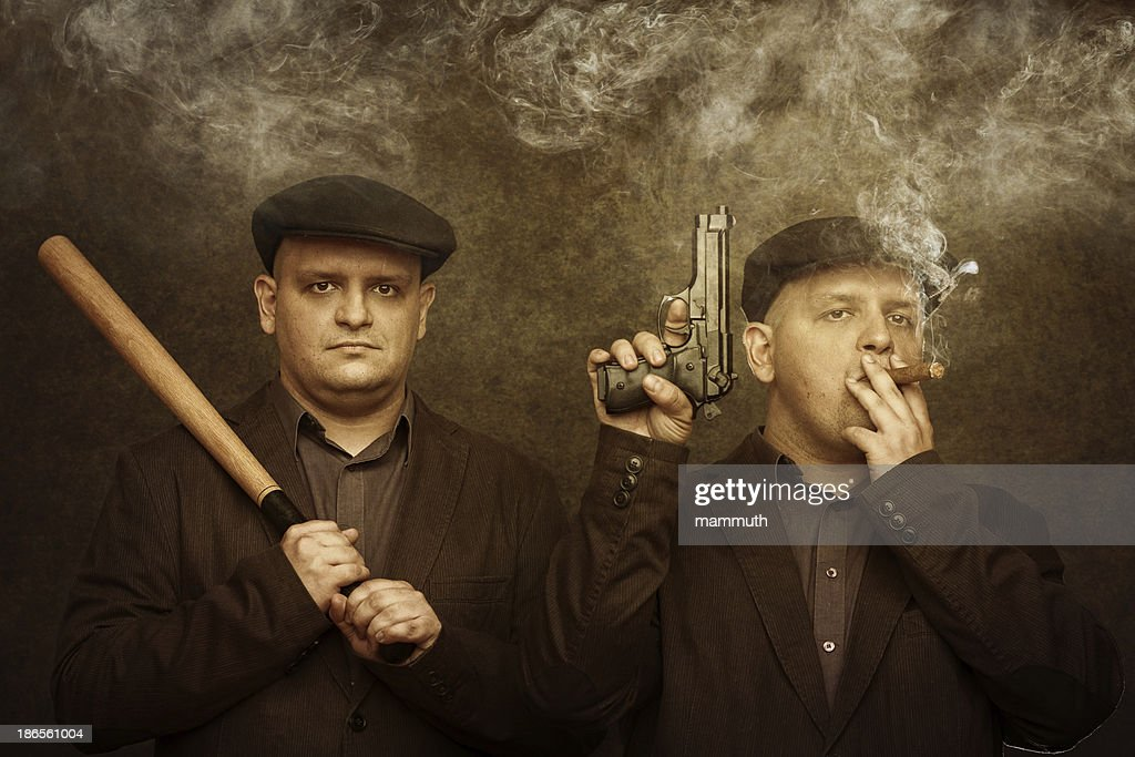 mafia twins : Stock Photo