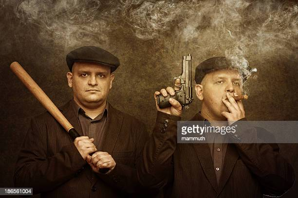 mafia twins - gangster stock pictures, royalty-free photos & images