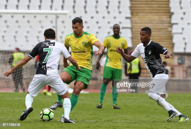 Mafra forward Alisson Patricio from Brazil in action during the Campeonato de Portugal Final match between CD Mafra and SC Farense at Estadio...